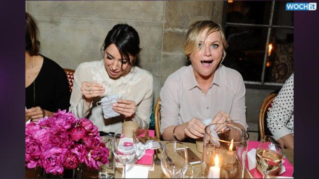 News video: Amy Poehler, Rashida Jones, Aubrey Plaza, & Anne Hathaway Are All Smiles During Their Girls Night Out! Fill In The Blank!!